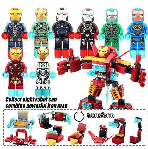 [[IronTransForm Robot can combine] Action Figures HeroesMini Blocks Minifigures Educational Toys DIY Building Blocks Brinks Size] (Hulkbuster Costume For Kids)
