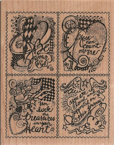 Heart Messages Wood Mounted Rubber Stamp (K3141)