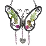 BANBERRY DESIGNS Mom Butterfly Mother Suncatcher with Pressed Flower Wings - Butterfly Suncatcher - Mom Gifts - Gifts for Mom - Gifts for Mothers (Color: SUNCATCHER, Tamaño: 4.25 Inch)
