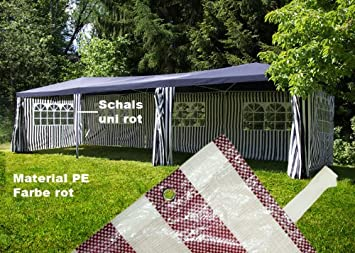 pavillon partyzelt raucherzelt rot 3x9 m pe 110g m wasserdicht dc126. Black Bedroom Furniture Sets. Home Design Ideas