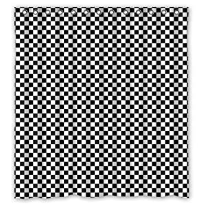 Black And White Gingham Check Plaid Fashion Pattern Shower Curtains Shower Rings