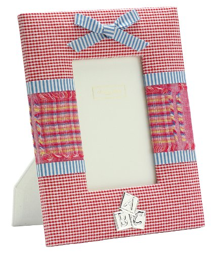 Addison Ross, Baby Enamel Photo Frame, 4x6 , Pink Fabric, 4 x 6 Inches - 1