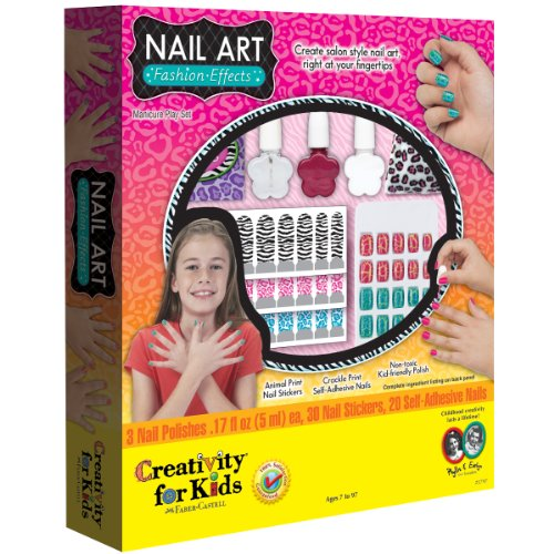 Creativity For Kids Nail Art Fashion Effects Kit front-787353