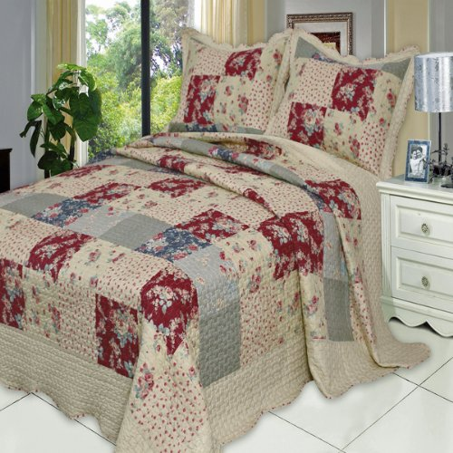Tania Twin Xl Size, Over-Sized Quilt 2Pc Set, Luxury Microfiber Printed Coverlet By Sheetsnthings front-1042602