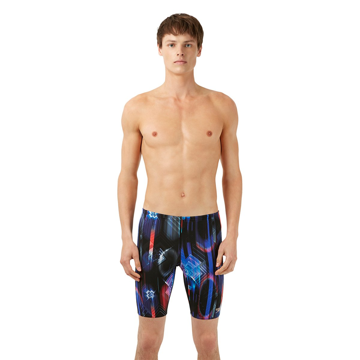 Speedo Mens Endurance + Allover Digital Jammer Print 1 - Black / Gravity / Turquoise endurance e300