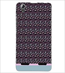 PrintDhaba Key Pattern D-1007 Back Case Cover for LENOVO A6000 (Multi-Coloured)