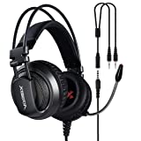 XIBERIA V10D PS4 Headset-Stereo Gaming Headset-Xbox One Headset,Noise Isolation Wired Over Ear Stereo Gamer Headphones with Microphone and Volume Contro for PC/Xbox One/PS4/Skype/Webinar(Gray/Black) (Color: grey)