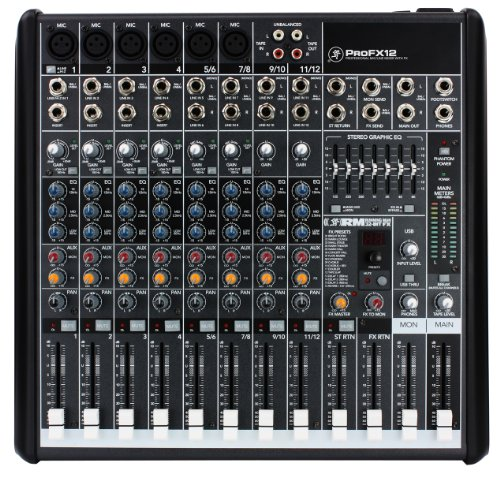 Mackie PROFX12 12- Channel Compact Effects Mixer