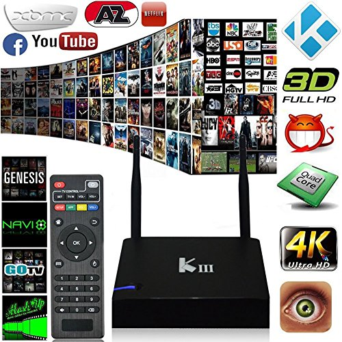 Big Save! Greatever 2016 Newest KIII Amlogic S905 Android 5.1 TV Box Quad-Core 2G/16G K3 PC 2.4/5G D...