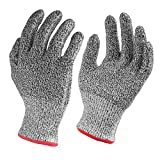 Nuovoware Cut Resistant Gloves, High Performance Food Grade Level 5 Protection Gloves for Home & Kitchen Work Safety, Hands Protector, EN388 Certified, 1 Pair(Small Size)
