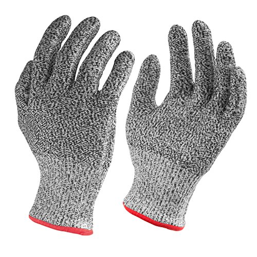 Nuovoware Cut Resistant Gloves, High Performance Food Grade Level 5 Protection Gloves for Home & Kitchen Work Safety, Hands Protector, EN388 Certified, 1 Pair(Medium Size) (Puncture Proof Work Gloves compare prices)