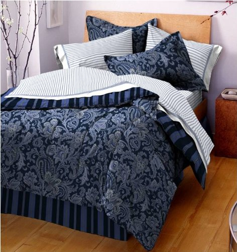 Nqu Acopz Westpoint Home Queen Bed In A Bag Blue