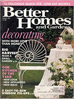 March 1993 better homes and gardens decorating with more love than money big harvest from a Better homes and gardens march