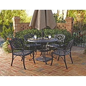 Amazon.com: Home Styles 5554-328 Biscayne 5-Piece Outdoor Dining ...