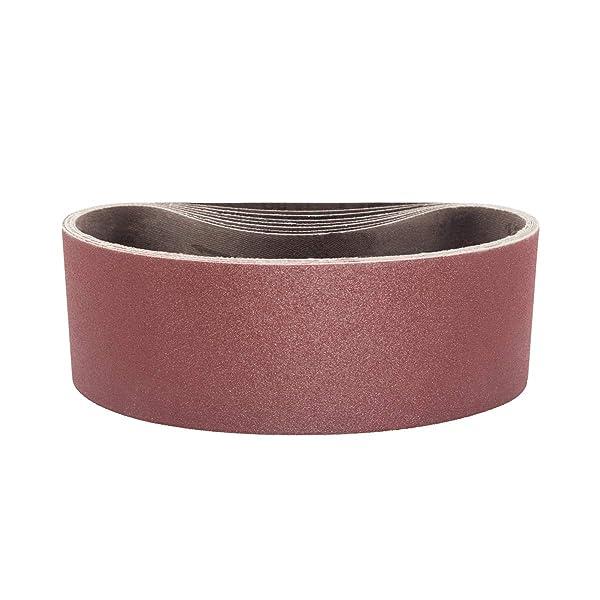 Powertec 4x36 inch 40 Grit Aluminum Oxide Wood Sanding Belt 3 Sander Sandpaper