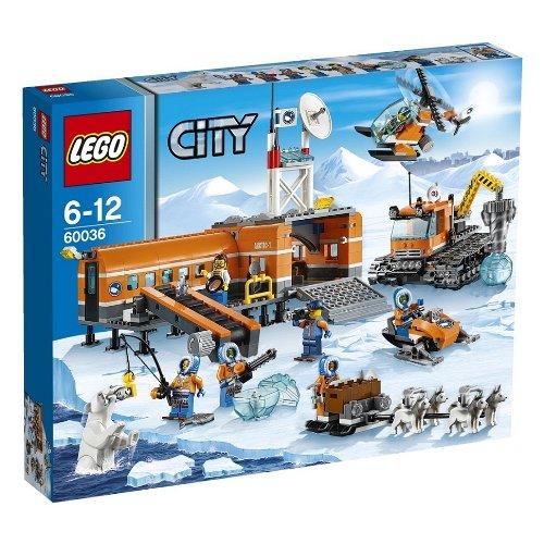 レゴ シティ スノーベースキャンプとクローラードリル 60036