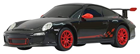 Jamara - 404095 - Maquette - Voiture - Porsche GT3 RS - 40 MHz - Echelle 1:24 - Noir - 3 Pièces