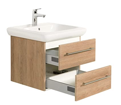 Bathroom Furniture Keramag IT! 60 cm with two drawers light oak satin