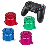 PS4 Bullet Buttons Aluminum Custom Metal Playstation 4 Slim DualShock 4 Replacement Standard Buttons Spare Parts Accessories for Modded PS4 Pro Controllers Bullet Color (Color: Color, Tamaño: Face Buttons)