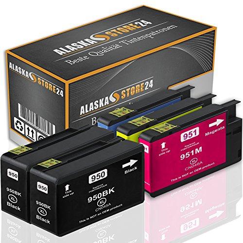 Set 5x Druckerpatronen Tintenpatronen Ersatz für Hp 950 XL + 951 XL (2x black + 1x Cyan + 1x Magenta + 1x Gelb) Ink Cartridge Original VueSerie