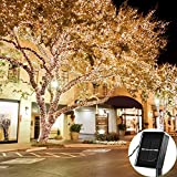Solar Outdoor String Lights, Loende Waterproof 72FT 200 LED 8 Modes Fairy Garden Lighting for Indoor, Home, Bedroom, Yard, Patio, Tree, Wedding, Holiday, Party Decorations(Warm White)