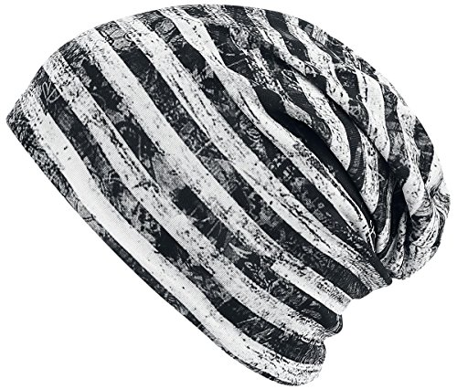 R.E.D. by EMP Reversible Jersey Beanie Berretto nero/bianco