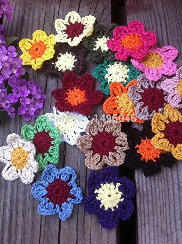 [FairyMotion Original 50Pcs/Lot Multicolor Diy Clothing Accessory Flowers Handmade Jewelry Flowers Cotton Crochet Doily Patches For Girls Perfect] (Angel Costume Tumblr)