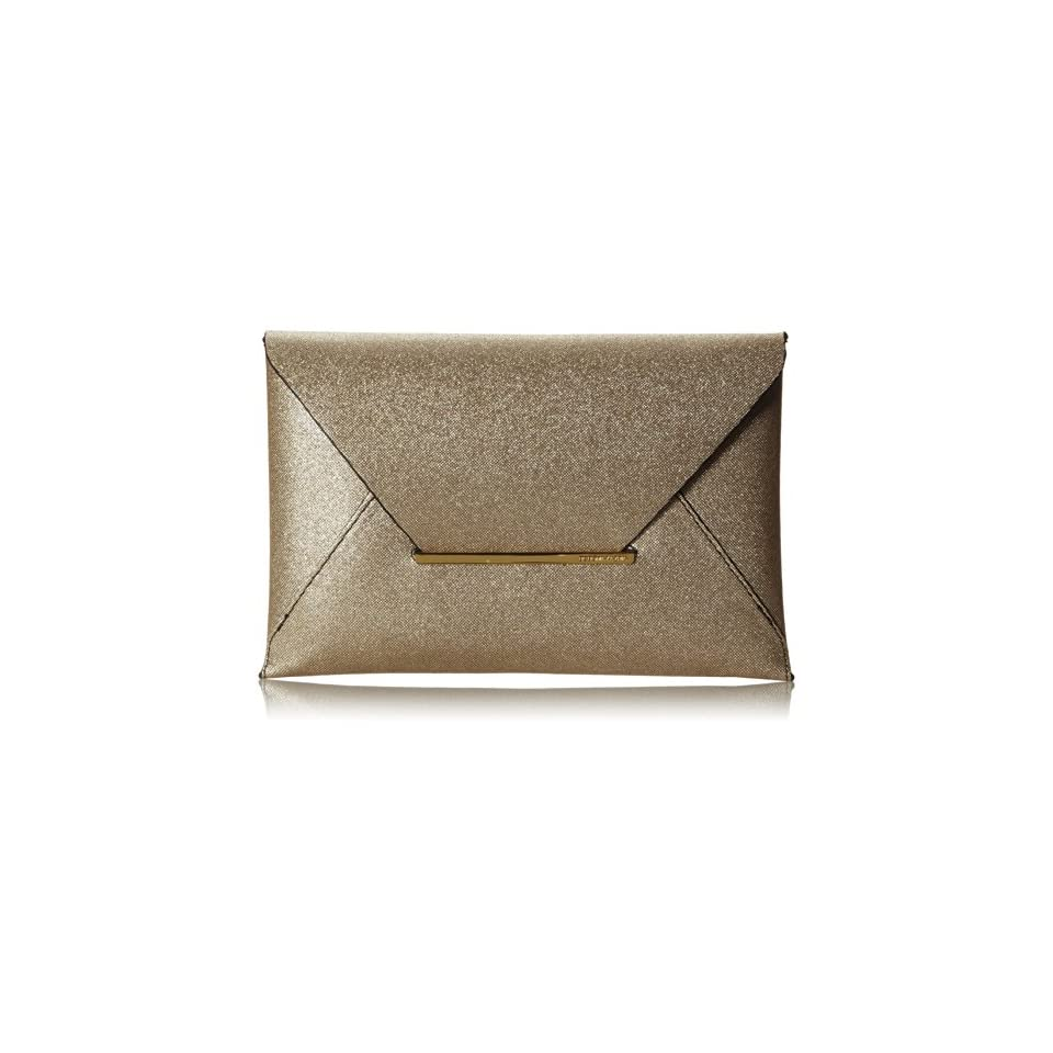 BCBG Harlow Signature Envelope Clutch,Gold,One Size