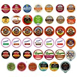 Holiday,Winter and Seasonal Flavors Coffee,Tea,Hot Cocoa and Cider Single Serve and K CUPS for Keurig Brewer (40 Count)
