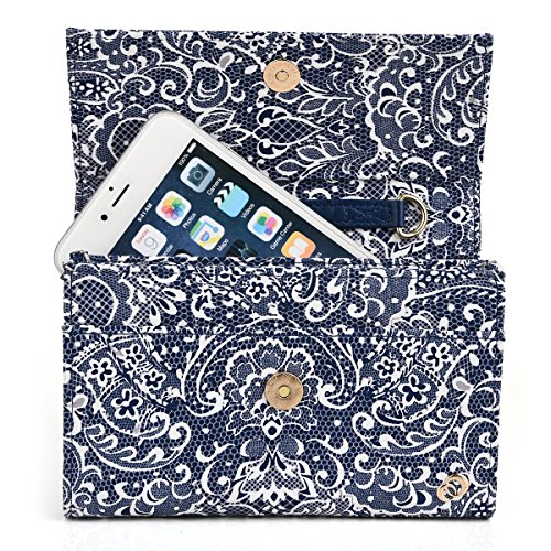 Women's Clutch Shoulder Purse with Phone Compartment Fits LG D958 G Flex | D959 G Flex | E980 Optimus G Pro 5.5 4G LTE | E985 Optimus G Pro 5.5 | E985T Optimus G Pro 5.5 TD-LTE | E986 Optimus G Pro 5.5 4G LTE (Lg G Pro E986 compare prices)