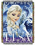 Disney Frozen Woven Tapestry Throw (Elsa)