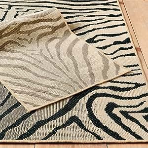 Mali Zebra Indoor Outdoor Rug Brown 2 39 X 3