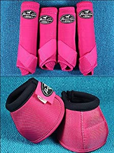 Raspberry Med Professional Choice Sports Medicine Horse Boots Bell Ventech Elite by HILASON