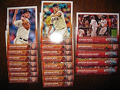2015 Topps Series 1 San Francisco Giants Baseball Card Team Set - 20 Cards