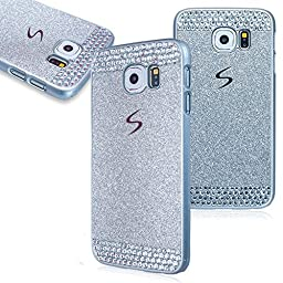 Superstart Silver Luxury Shiny Glitter Sparkle Hard Case With Crystal Rhinestone for Samsung Note 4