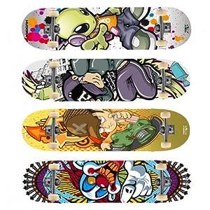 Hudora Skateboard Instinct 2.0 ABEC 1  Ahornholz, farblich sortiert, 12160