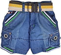 Nil and Grease Baby Boys' Relaxed Shorts (HF46, Blue)