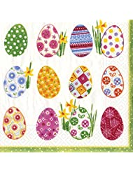 Low Price For Entertaining with Caspari Easter Egg Hunt Paper Cocktail Napkins- Pack of 20 With Discount