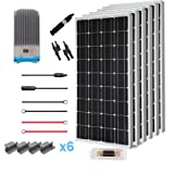 Renogy  600 Watt 12 Volt Solar Premium Kit w/ 6 Pcs 100W Solar Panel/60A MPPT Charge Controller/Solar Cable/Solar Fuse Mounting/Z Brackets for RV, Boat (Color: CMD60, Tamaño: 600W Mono Panel-60A MPPT)