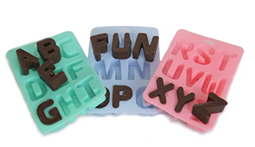 buy silicone alphabet letter ice bake tray set online at low prices in india amazonin