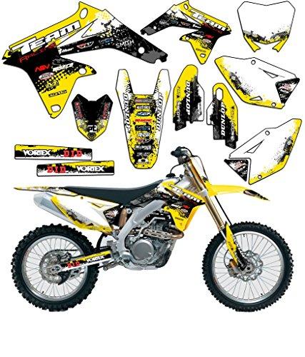 Team Racing Graphics kit for 2005-2006 Suzuki RMZ 450, SCATTER (06 Rmz 450 Parts compare prices)