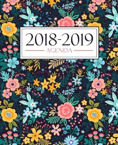 Agenda 2018-2019 190 x 235 mm  Agenda 2018-2019 semana vista español  160 g/m²  Agenda semanal 12 meses Estampado floral 3704  [Papeterie Bleu] (Tapa Blanda)
