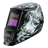 Antra AH6-260-6218 Solar Power Auto Darkening Welding Helmet with AntFi X60-2 Wide Shade Range 4/5-9/9-13 with Grinding Feature Extra Lens Covers Good for Arc Tig Mig Plasma CSA/ANSI (Color: Grey Ghost, Tamaño: Viewing Size 3.86