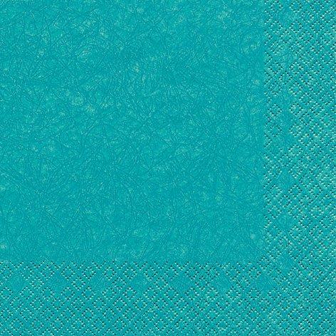 20 Servietten Uni türkis / Modern colours / Hochzeit / Taufe / zur Kommunion 33x33cm