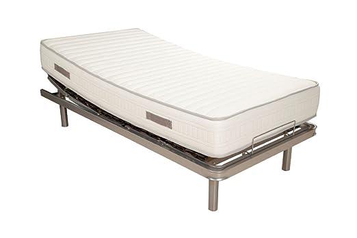 PACK Cama articulada eléctrica + colchón viscoelástica 90x190cms