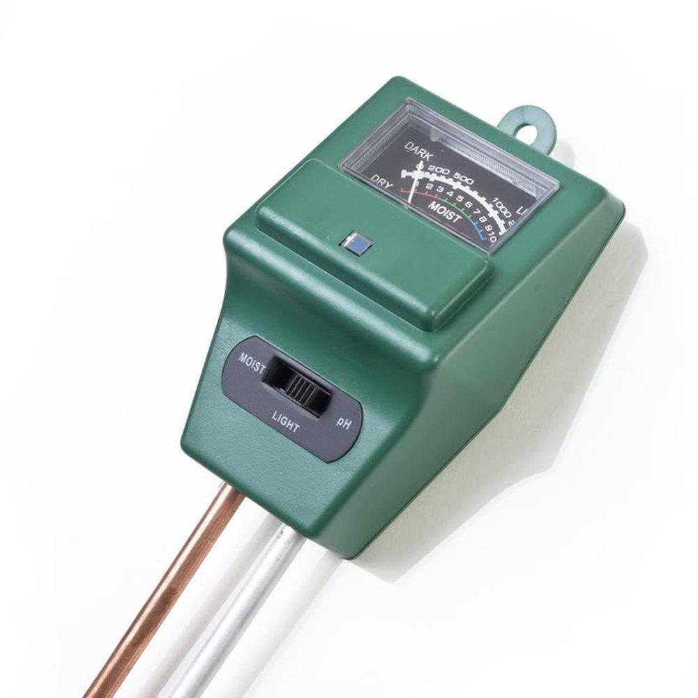 Soil Tester,3-in-1 Soil Moisture,ph Meter Test Kit with Light Gauge Function,Soil Analyzer Detector for Testing PH Acidity,Moisture,Sunlight Intensity,Indoor Outdoor Garden Farm Lawn Plant Flower