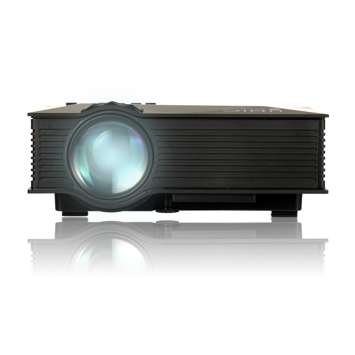 Uvistar Wireless Home Cinema Multimedia Projector Mini Portable LCD LED Projection with USB/SD/AV/HDMI/VGA Support 1080p 1000+ Lumens IP/IR/USB/SD/HDMI/VGA