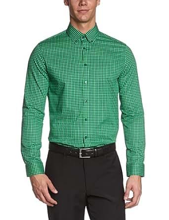 Seidensticker Herren Businesshemd Slim Fit 570482 UNO SUPER SLIM, Gr. 40, Grün (77 grün)
