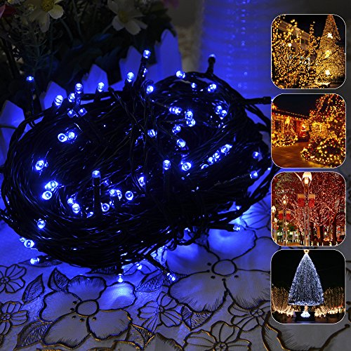 Lychee® Solar Christmas String Solar Fairy String Lights For Outdoor Room Garden Home Christmas Party Decoration Waterproof (Blue, 22M 200Leds)