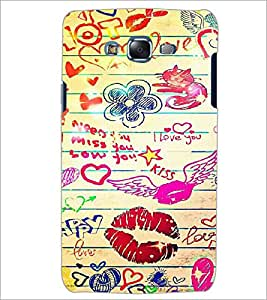 PrintDhaba Love D-6097 Back Case Cover for SAMSUNG GALAXY ON 5 (Multi-Coloured)